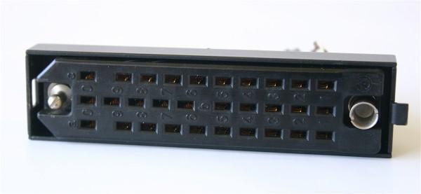 Siemens/ Tyco oder Amphenol Tuchel DIN 41622 30pol, versilberte Federleiste mit Wanne und Kodierst