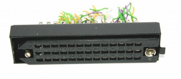 Siemens/Tyco DIN 41622 39pol Federleiste vergoldet, mit Riegelwanne aus Metall GEBRAUCHT