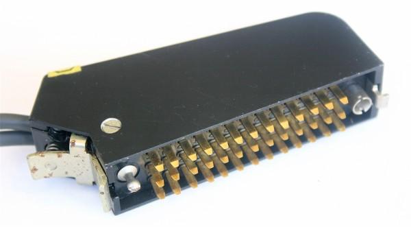 Siemens/Tyco DIN 41622 39pol Messerleiste vergoldet, mit Metallhaube und Kodierstifte GEBRAUCHT