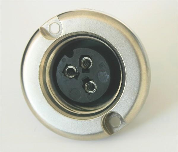 Binder 3 Pol Einbaubuchse, kompatibel mit Amphenol Tuchel T3082-000 NEU