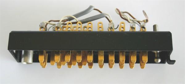 Siemens/ Tyco oder Amphenol Tuchel DIN 41622 30 polige vergoldete Messerleiste,  mit Wanne Metall