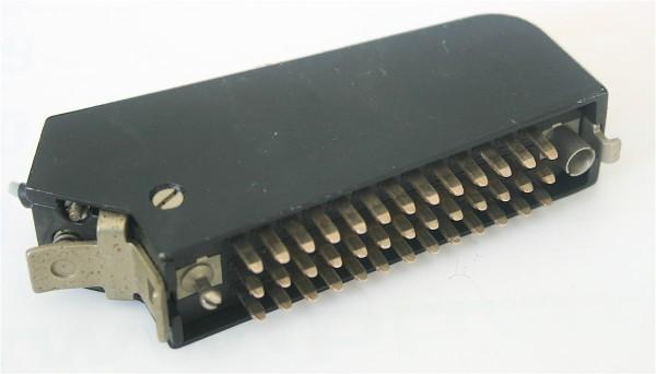 Siemens/ Tyco oder Tuchel DIN 41622 39 polige Messerleiste, versilbert mit Metallhaube und Kodierstifte GEBRAUCHT