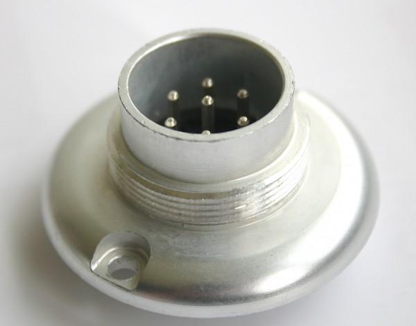 Amphenol Tuchel 7 Pol Einbaustecker T3462-006 für Neumann KM2XX/M249/M269 NEU