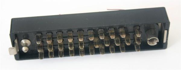 Siemens/ Tyco oder Amphenol Tuchel DIN 41622 30 polige versilberte Messerleiste mit Wanne Metall