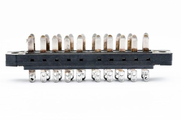 Siemens/ Tyco oder Amphenol Tuchel DIN 41622, 20 polige versilberte Federleiste