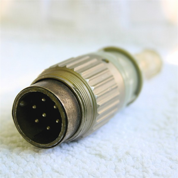 Amphenol Tuchel 7 pol Kabelstecker T3460-002 f.Neumann KM2XX/M249/M269 gebraucht