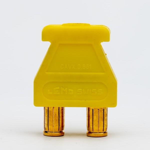 Lemo Triax Brückenstecker gelb, gebraucht