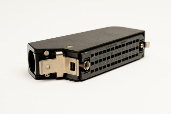 Siemens/ Tyco oder Amphenol Tuchel DIN 41622 39 polige versilberte Federleiste, mit Metallhaube und Kodierstifte