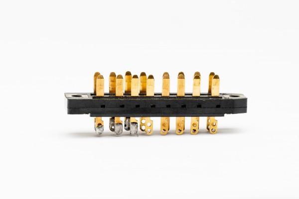Siemens/ Tyco oder Amphenol Tuchel DIN 41622, 16 Pol Messerleiste vergoldet GEBRAUCHT