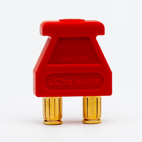 Lemo Triax Brückenstecker rot, gebraucht